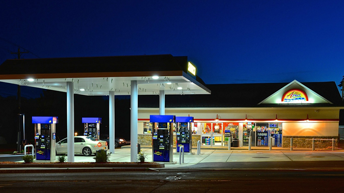 Convenience Store Construction : Gas station sunoco